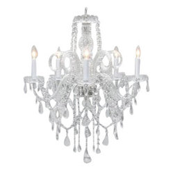 "Authentic All Crystal Chandelier Chandeliers H30"" X W24"" SWAG PLUG IN-CHANDEL..."