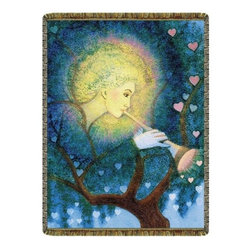 Circles of Light Imports LLC - Angel Love Tapestry Throw Blanket, Full Color Tapestry Throw Blanket as Shown, 5 - Angel Love Tapestry Throw Blanket