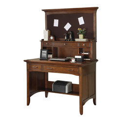 Riverside Furniture - Riverside Furniture Oakton Village Project Desk in Distressed Oak - Riverside Furniture - Computer Desks - 9613896139KIT - Riverside's products are designed and constructed for use in the home and are generally not intended for rental commercial institutional or other applications not considered to be household usage.Riverside uses furniture construction techniques and select materials to provide quality durability and value in our products and allows us to meet the wide range of design and budget requirements of our customers. The construction of our core product line consists of a combination of cabinetmaker hardwood solids and hand-selected veneers applied over medium density fiberboard (MDF) and particle board. MDF and particle board are used in quality furniture for surfaces that require stability against the varying environmental conditions in modern homes. The use of these materials allows Riverside to design heirloom quality furnishings that are not only beautiful but will increase in value through the years.