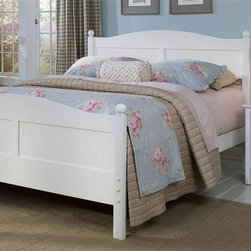Bolton Furniture - Cottage Queen Bed w Wakefield Nightstand in White Finish - Includes Cottage queen headboard, footboard and side rails and Wakefield nightstand. Chest not included. Bed:. Queen size bed. 64 in. L x 85 in. W x 47 in. H. Nightstand:. 1 Drawer. Beaded side panels. Classic framed drawer fronts. Dovetailed drawers and self-closing under mount glides. Made of solid birch hardwoods & veneers. 20 in. W x 19 in. D x 25 in. H. White finish. Assembly required. 1-Year warranty