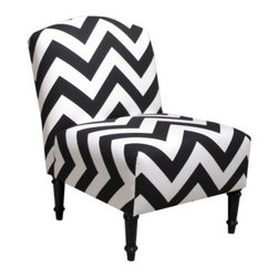 Chevron Camelback Chair - About Skyline Furniture Manufacturing Inc.Skyline Furniture was founded in 1948 with the goal of producing stylish, affordable, quality furniture for the home. After more than 50 years, this family-run business is still designing and manufacturing unique products that meet the ever-changing demands of the modern home furnishing industry. Located in the south suburbs of Chicago, the company produces a wide variety of innovative products for the home, including chairs, headboards, benches, and coffee tables.