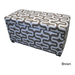 None - Angela Embrace Storage Trunk - Give your living space extra storage,seating and table space in a chic and functional fashion with this stylish Angela Embrace storage trunk. This beautiful trunk features artistically designed fabric upholstery and an attractive finish.