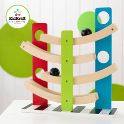 Kidkraft - Kids Zig Zag Ball Run - Our Zig Zag Ball Run is a fun, lightweight toy that would make a great gift for any occasion. Young kids will love watching the ball take its fun ride from the very top all the way to the bottom, Bright colors on the front and back, zebra stripes on the bottom, 4 levels for the ball to roll down, No assembly required.