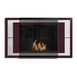 Ambiance Wall Mounted Bio Ethanol Fireplace by DecoFlame - Ambiance provides a sophisticated and streamlined aesthetic to any space using stainless steel trim and contrasting high-gloss enamel, offered in black, brown or burgundy. This fireplace offers an eco-friendly flame that is odorless. Bio Ethanol, an alternative fuel source produced from plants, only emits water vapor and carbon dioxide into the air, therefore no chimney or flue is needed. Although ethanol fireplaces aren't intended for use as a primary heat source, the Ambiance model produces approximately 9,800 btu with the help of its stainless burner, which will change the noticeable temperature in a room of approximately 450 square feet. For aesthetic appeal and safety, this fireplace includes two tempered glass sliding doors that are situated in front of the flame. Appropriate for living space, Ambiance can be mounted on the wall using the included hardware. Ambiance by DecoFlame is made in and also ships to Canada.