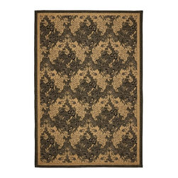 Safavieh - Safavieh Courtyard Cy6582-46 Black / Natural Area Rug - Traditional patterns and classic beauty are found in the area rugs of the Courtyard collection. Made in Belgium of enhanced polypropylene, these rugs are extremely durable and perfect for indoor or outdoor use. The area rugs of the Safavieh Courtyard collection offer highly detailed and sophisticated designs created through an unusual sisal weave. Select the colors, design, and style that will compliment any room in your home in round, rectangular or runner rugs.
