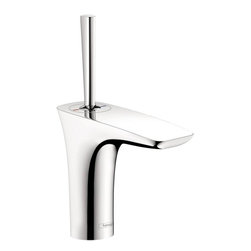 Hansgrohe - Hansgrohe PuraVida 110 Single-Hole Lavatory Faucet with Pop-Up Assembly - HansGrohe 15074001 PuraVida 110 Single-Hole Lavatory Faucet with Pop-Up Assembly, Chrome