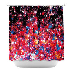DiaNoche Designs - Shower Curtain Artistic - Starlight Nebula - DiaNoche Designs works with artists from around the world to bring unique, artistic products to decorate all aspects of your home.  Our designer Shower Curtains will be the talk of every guest to visit your bathroom!  Our Shower Curtains have Sewn reinforced holes for curtain rings, Shower Curtain Rings Not Included.  Dye Sublimation printing adheres the ink to the material for long life and durability. Machine Wash upon arrival for maximum softness. Made in USA.  Shower Curtain Rings Not Included.