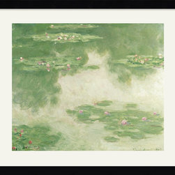 Amanti Art - Nympheas, Water Landscape, 1907 Framed Print by Claude Monet - If you can't get to France to visit Monet's gardens, you can pay homage to his muse with this framed reproduction. The whimsical beauty of shimmering lily pads create a dreamlike state for your imagination to play. It's a classically romantic piece to hang in your home.