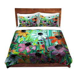 DiaNoche Designs - Duvet Cover Microfiber - Stories from A Field Act lxi - DiaNoche Designs works with artists from around the world to bring unique, artistic products to decorate all aspects of your home.  Super lightweight and extremely soft Premium Microfiber Duvet Cover (only) in sizes Twin, Queen, King.  Shams NOT included.  This duvet is designed to wash upon arrival for maximum softness.   Each duvet starts by looming the fabric and cutting to the size ordered.  The Image is printed and your Duvet Cover is meticulously sewn together with ties in each corner and a hidden zip closure.  All in the USA!!  Poly microfiber top and underside.  Dye Sublimation printing permanently adheres the ink to the material for long life and durability.  Machine Washable cold with light detergent and dry on low.  Product may vary slightly from image.  Shams not included.