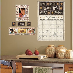 RoomMates - Family and Friends Peel & Stick Dry Erase Calendar Multicolor - RMK2148GM - Shop for Calendars and Wall Planners from Hayneedle.com! Get your family organized fast with the Family and Friends Peel & Stick Dry Erase Calendar. In a charming country-style display this nifty decal calendar offers a touch of love warmth and modern-day convenience. To apply simply peel and stick to any smooth surface. This reusable decal won t leave any sticky residue or damage.