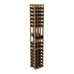 Wine Racks America - 3 Column Display Row Wine Cellar Kit in Redwood, Oak + Satin Finish - Make your best vintage the focal point of your wine cellar. High-reveal display rows create a more intimate setting for avid collectors wine cellars. Our wine cellar kits are constructed to industry-leading standards. You'll be satisfied. We guarantee it.