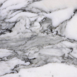 Arabescato Cervaiole - This is one of our favorite marbles for its stunning movement and graphic qualities. Will work really well in classic white kitchen and bring a strong sense of drama.
