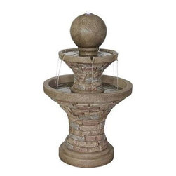 Kelkay - Castle Tier Fountain - Made from durable resin-stone  all Kelkay easyfountains are self contained  with no need for a permanent water supply. They are easy to unpack and assemble needing no tools. All fountains come with the appropriate pump and most have safe low voltage LED lights. Most Kelkay fountains are exclusively designed by Kelkay ensuring the consumer has a truly original product. The fountain in a box!  This item cannot be shipped to APO/FPO addresses. Please accept our apologies.
