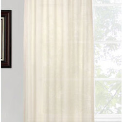 Vintage House by Park B. Smith - Natural Leno Tab Window Panel - - Vintage house all natural 100% cotton 40 x 84-inch tab top treatment. Dry clean only  - made in india  - items included in the set: one window panel Vintage House by Park B. Smith - ELEN42-NAT
