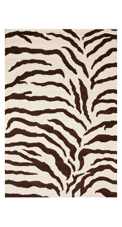 """nuLOOM - Animal Prints 2' 3"""" x 8' Brown Hand Tufted Area Rug Hand Made Wool Zebra Print - Made from the finest materials in the world and with the uttermost care, our rugs are a great addition to your home."""
