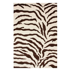 "nuLOOM - Animal Prints 2' 3"" x 8' Brown Hand Tufted Area Rug Hand Made Wool Zebra Print - Made from the finest materials in the world and with the uttermost care, our rugs are a great addition to your home."