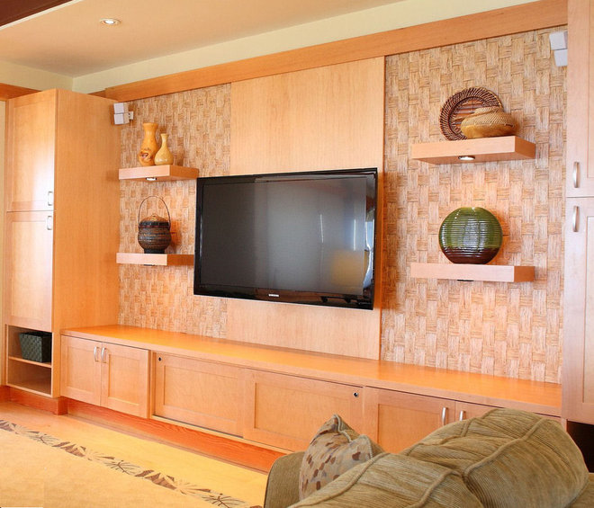 Tropical Home Theater by Trans-Pacific Design / Susan J. Moss, ASID
