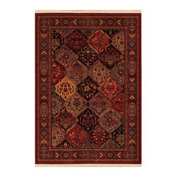"""Couristan - Kashimar Ardibel Panel Rug 5607/1872 - 4'6"""" x 6'9"""" - This collection consists of designs inspired by Oriental and Persian motifs. When choosing rugs in this collection your decorating choices are both wide and varied. In a more classic setting you could add many periods of furniture with lush fabrics of velvet, brocades, silks, sateen's, tapestries and damask. It is always important to work from the floor up. Let the palette of the rug be central in your choice of fabric colors. In a more contemporary setting try textured woven solids or jacquards. Leathers and suede's would also be good choices."""