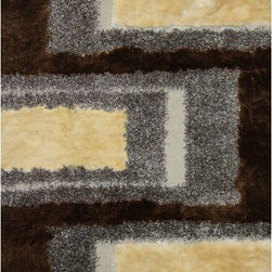 Rug Factory - Shaggy Design 35 Beige 2' x 3' Size Area Rug - Shaggy design 35 Beige 2' x 3' size area rug. These shags offer a dense, shed free, easy to clean and sensuously soft surface that is sure to be a toe curling pleaser. Vibrant colors, geometric patterns and designs. are hand tufted using a blend of ultra fine raw materials for a plush and soft feel.