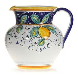 Ceramic - Italian Lemons Ceramic Pitcher - Italian Lemons Ceramic Pitcher