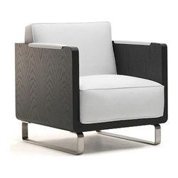 Kubikoff - Kubo Lounge Chair, Black Leather, Black - Kubo Lounge Chair