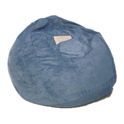 Fun Furnishings - Fun Furnishing Large Beanbag Ocean Blue Micro Suede - Beanbags - What a great place to plop down and relax. Each bag come with a handy pocket to store the clicker or any other prized possession. The outer cover is removable for cleaning. The inner liner bag securely contains new fire retardant beads and is refillable too. Cleaning the Cover:  We use only fine upholstery-grade fabrics that can take lots of use from kids. Our Micro Suedes, denims and chenilles are all washable.  But we cannot prevent the covers from getting dirty. Here's what you can do to keep them looking new:  1. Blot up spills immediately. Surface wash any remaining stains with a mild, non-toxic cleaner. Do not rub too hard or use a strong cleaner; you will remove the fabric's finish and possibly some color too. 2. The furniture covers are removable. We recommend dry cleaning to keep the covers looking their best as long as possible. 3. You may apply a scotch-guard type treatment to protect the covers. If you choose to do this always start with a small amount on the bottom of the piece to make certain the fabric will not be damaged.