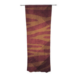 """Kess InHouse - Nick Atkinson """"Red Zebra Texture"""" Decorative Sheer Curtain - Let the light in with these sheer artistic curtains. Showcase your style with thousands of pieces of art to choose from. Spruce up your living room, bedroom, dining room, or even use as a room divider. These polyester sheer curtains are 30"""" x 84"""" and sold individually for mixing & matching of styles. Brighten your indoor decor with these transparent accent curtains."""