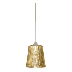 BESA Lighting - BESA Lighting RXP-1743SL Domi 1 Light Halogen Track Pendant - Domi has a classical bell shape that complements aesthetic, while also built for optimal illumination. Our Solare glass is a pressed glass that features swirls of white throughout clear glass, which then is colored with a translucent mix of red-orange to yellow. This decor is classic and can be used in various ways. When lit this gives off a light that is functional and soothing. The smooth satin finish on the clear outer layer is a result of an extensive etching process. This handcrafted glass uses a process where every glass is consistently produced using a press mold, keeping variations to a minimum. The 12V cord pendant fixture is equipped with a 10' coaxial cordset with teflon jacket, quick connect jack and a Besa Rail Adapter.Features: