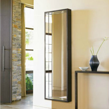 Four Seasons Rectangular Mirror - I love the dimension of this mirror! With four smaller mirrors tucked into the perimeter, this guy is bound to catch light from nearly every direction.