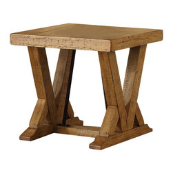 Riverside Furniture - Riverside Furniture Summerhill End Table in Canby Rustic Pine - Riverside Furniture - End Tables - 91609 - Riverside's products are designed and constructed for use in the home and are generally not intended for rental, commercial, institutional or other applications not considered to be household usage.