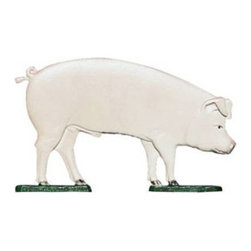 "Whitehall Products LLC - 30"" Pig Weathervane - Garden Black - • Color: Black"