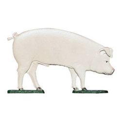"Whitehall Products LLC - 30"" Pig Weathervane - Garden Black - Features:"