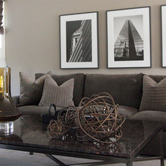 contemporary living room Tailored Sophistication