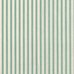 "18"" Bedskirt Gathered Pool Blue-Green Ticking Stripe"