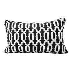 Izzy Black and White Throw Pillow