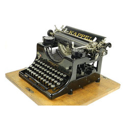 Antique Kappel Typewriter and Hood Case by Antiques Maloy - An old typewriter is a great interest piece. There's no better way to accessorize a writer's home than with an antique tool used by other writers.