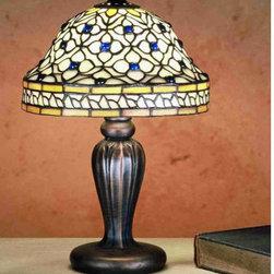 Meyda Tiffany - Meyda Tiffany 27535 Stained Glass / Tiffany Accent Table Lamp Tiffany R - Tiffany ReproductionsTiffany Roman Mini Lamp1 Candelabra bulb, 40w (max)