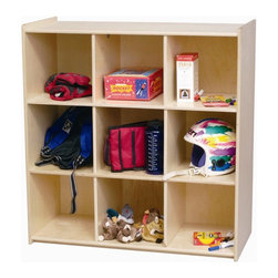 Little Colorado - Little Colorado Storage Cube Wood Bookcase - 064NA - Shop for Childrens Toy Boxes and Storage from Hayneedle.com! Perfect for bins boxes bags or however your child is storing her or his stuff the Little Colorado Storage Cube Wood Bookcase is a perfect place to organize and tuck it all away. Constructed of solid wood from Baltic birch this bookcase is built to last. It will support 500 lbs. total weight and is very stable. This storage unit is perfect for children who have a lot of toys to store. A great unit to help learn to organize. Nine interior sections and a long flat top provide ample storage and display space.Little Colorado is a Green CompanyAll finishes are water-based low-VOC made by Sherwin Williams and other American manufacturers. Wood raw materials come from environmentally responsible suppliers. MDF used is manufactured by Plum Creek and is certified green CARB-compliant and low-formaldehyde. All packing insulation is 100% postconsumer recycled. All shipping cartons are either 100% postconsumer recycled or are made of recycled cardboard.About Little ColoradoThis item is made by Little Colorado. Begun in 1987 Little Colorado Inc. creates solid wood handcrafted children's furniture. It's a family-owned business that takes pride in building products that are classic stylish and an excellent value. All Little Colorado products are proudly made in the U.S.A. with lead-free paints and materials. With a look that's very expensive but a price that is not Little Colorado products bring quality and affordability to your little one's room.