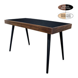 Nuevo Living - Matt Desk, Walnut with Black Base - If you need to fit in a workstation that won't hog your space, this desk does the job. A super-sleek testament to minimalist style, it offers ample surface and drawer storage too.