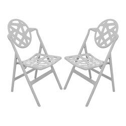 Pair of Grey Typhoon Chairs -