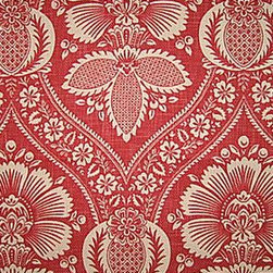 Pindler & Pindler Benisa Rouge - If I remember correctly, this is a large-scale pattern that creates a beautiful traditional statement in a room. I could see it used to great effect in a large dining room with blush-pink walls.
