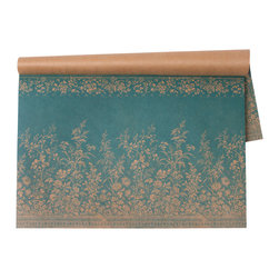 Hester & Cook Design Group - Woven Floral Paper Placemat - This placemat was inspired by a vintage French wallpaper design. The floral design is printed on Kraft paper.