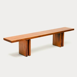 Artless - Artless | Occidental Benches - Made in Los Angeles by ARTLESS.The perfect complement to the Occidental Table, the Occidental Bench is constructed from the same quality materials.Sleek and modern with a rustic look, use the bench outdoors or indoors for a casual seating solution.