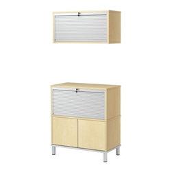 IKEA of Sweden - EFFEKTIV Storage combination - Storage combination, birch veneer, aluminum
