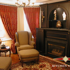 Traditional Indoor Fireplaces by Kitchen Court