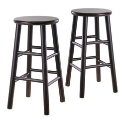 """Winsome - Winsome 24"""" Counter Height Bar Stools in Espresso (Set of 2) - Winsome - Bar Stools - 92784"""