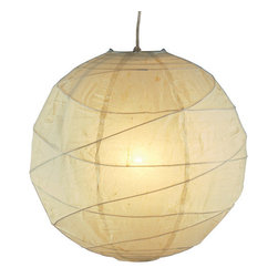 Adesso - Adesso 4160-12 Orb Small Pendant - Natural round rice paper collapsible shades with uneven bamboo ribs. Pendants include cord with socket and hanging apparatus. Line switch  About Adesso  Adesso was established in 1994, with the vision and belief that consumers who sought high-end contemporary home products at affordable prices would be able to do so. �Adesso has been able to redefine residential spaces with its innovative, well-designed and well priced products. They have integrated an array of colors and materials in the design of their products to include renewable bamboo, cork, glass, resin, woven fabric, rice-paper and even metals.� Adesso is shaping the future of home design and they�re driven by the simple idea that your home is a canvas.