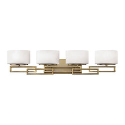 Hinkley - Hinkley Lanza 4-Light Brushed Bronze Vanity - 5104BR - This 4-Light Vanity is part of the Lanza Collection and has a Brushed Bronze Finish. It is Damp Rated.