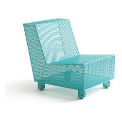 Damian Velasquez LLC - Chair No. 35 - Here's a chair that's just begging to become part of your outdoor entertainment collection. The beauty of this piece is in its functional qualities as well as its simple good looks. Handcrafted of powder-coated stainless steel mesh, it resists the challenges of heat, wind and weather. So sit back, relax and enjoy a nice cold beverage!