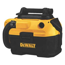 DEWALT - 20V WET/DRY VACUUM - DEWALT 18/20 V MAX cordless wet-dry vacuum. 2 Gallon tank capacity provides enough storage to empty a toilet or clogged pipe. HEPA rated Wet/Dry filter traps dust with 99.97% efficiency at 1 micron.